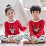 Baby Kids Pajamas Sets Cotton Boys Sleepwear Suit Autumn Girls Pajamas Long Sleeve Pijamas Tops+Pants 2pcs Children Clothing