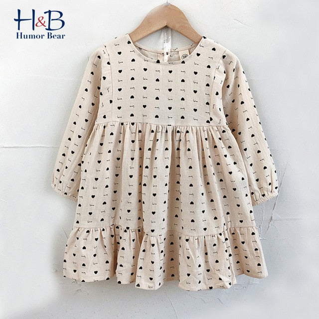 Humor Bear Girls Dress New  Spring Casual Long Sleeves lace Mesh Kids Dresses For Girl Autumn Clothing Princess Party Dress