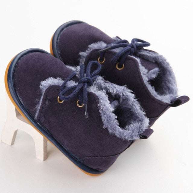 2021 New Winter 0-18M Infant Baby Girl Boy Snow Booties Fur Boots Toddler Warm Strappy Shoes Newborn Brand Casual Little Kids