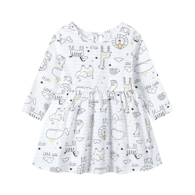 Long Sleeve Girls Dress Floral Dresses for Kids Children Princess Dress Baby Birthday Dress 1-8years Autumn Spring Clothing