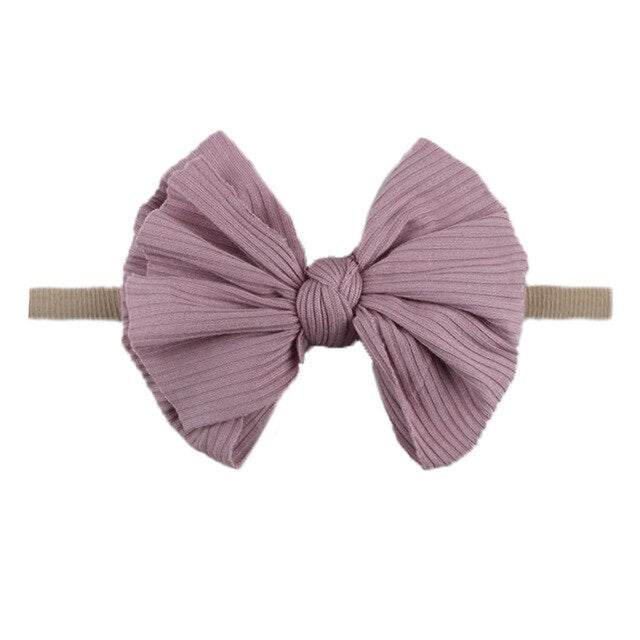 XCQGH Fashion Bowknot Baby Headband Nylon Newborn Infant Toddler Headwrap Hair Accesories for Girl Boy