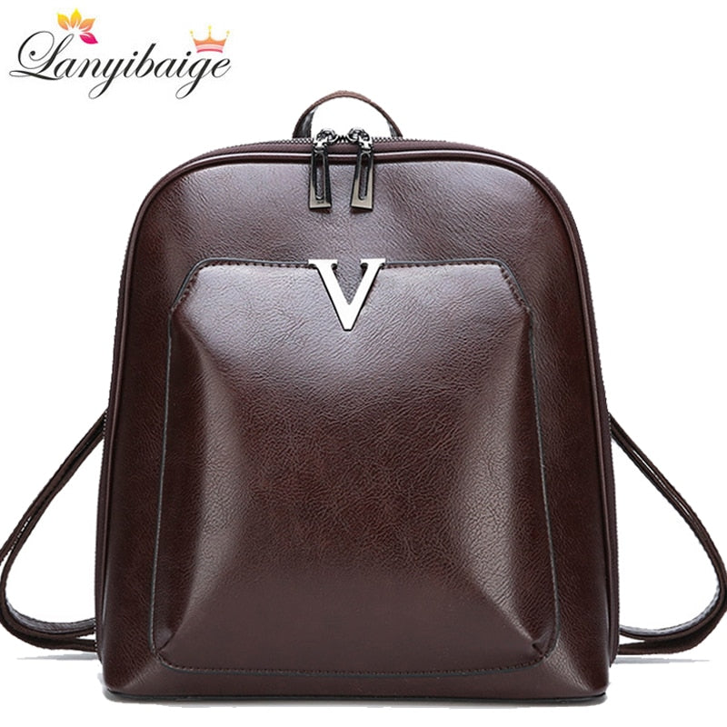Jamila New Vintage Backpack Women High Quality Pu Leather