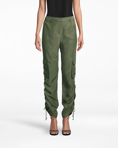 WASHED HABOTAI CARGO PANT in CAMO GREEN