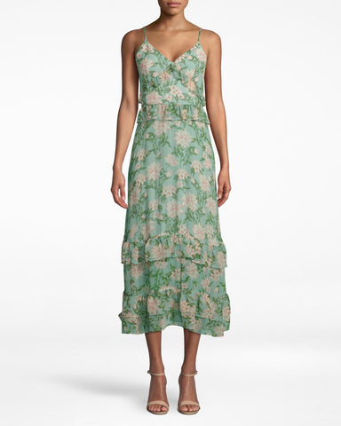 Spring Dream Midi Dress In Spring Dream Sage