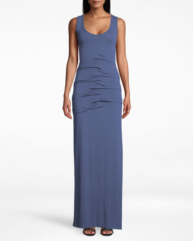Vanessa Jersey Dress In Harbor Blue