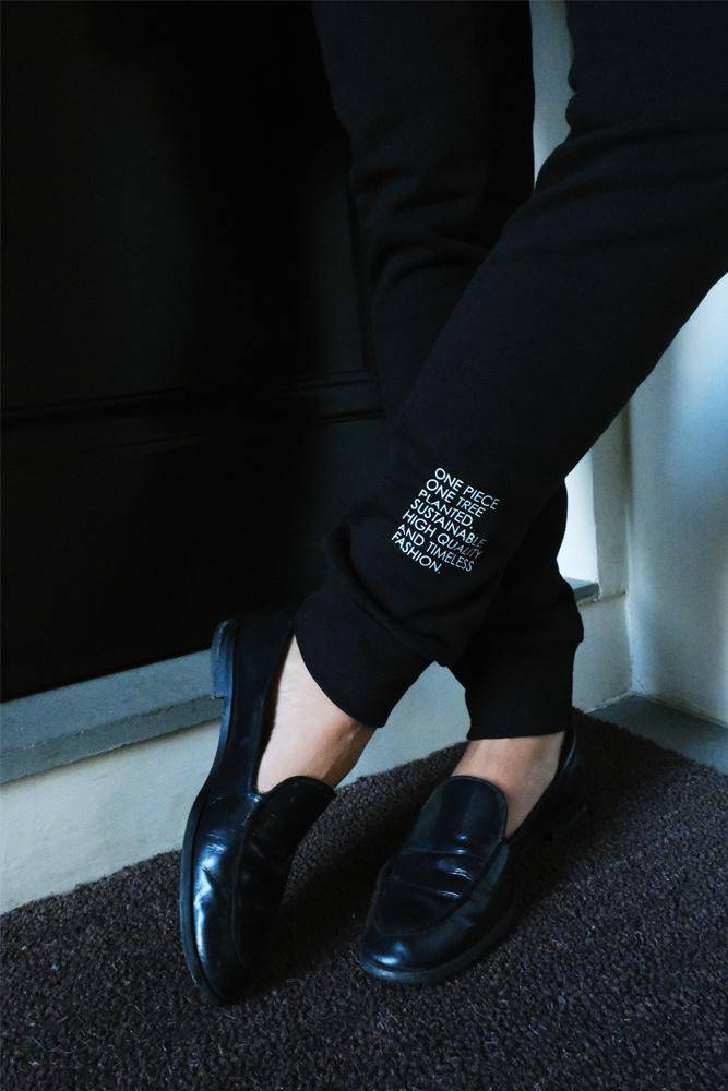 Organic Cotton Track Pants - Black - VERONICA GAUTSCHI