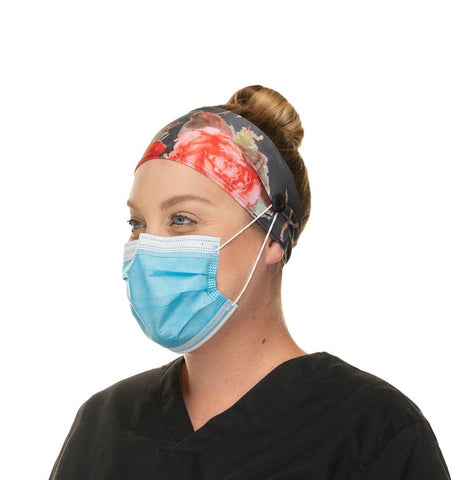 comfortable headband mask with buttons for COVID-19