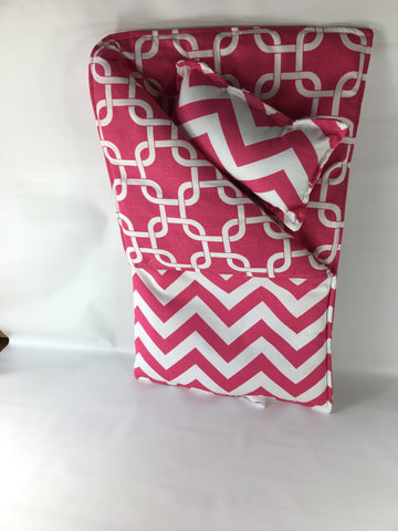 "18"" Doll Sleeping Bag - Candy Pink Medium Chevron Print"