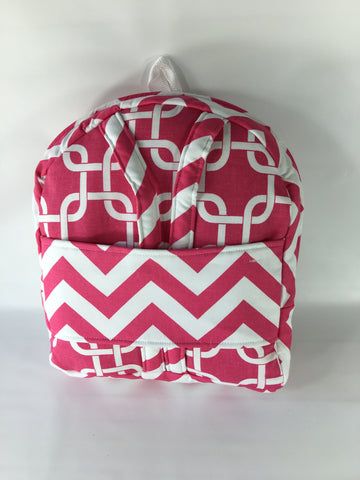 "18"" Doll Tag Along Backpack - Candy Pink and White Prints"