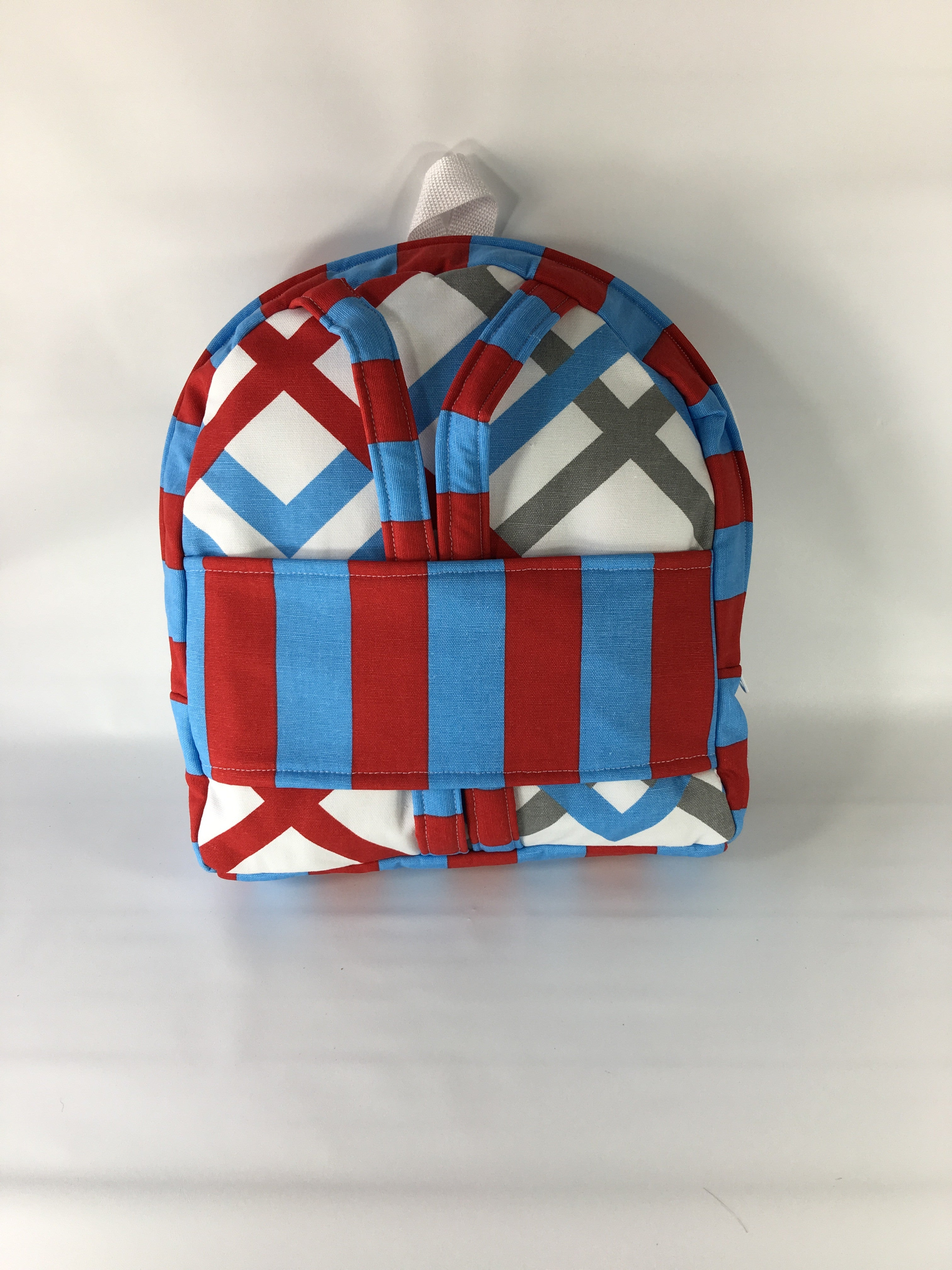 "18"" Doll Tag Along Backpack - Red/Blue/White Prints"