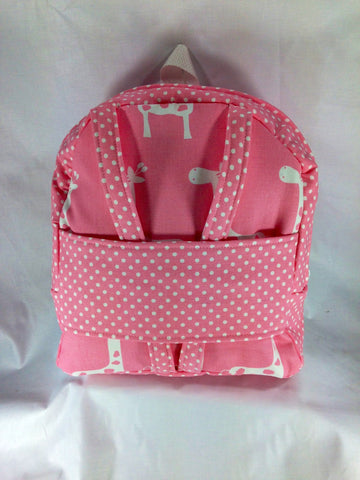 "18"" Doll Tag Along Backpack Doll Carrier - Pink and White Print"