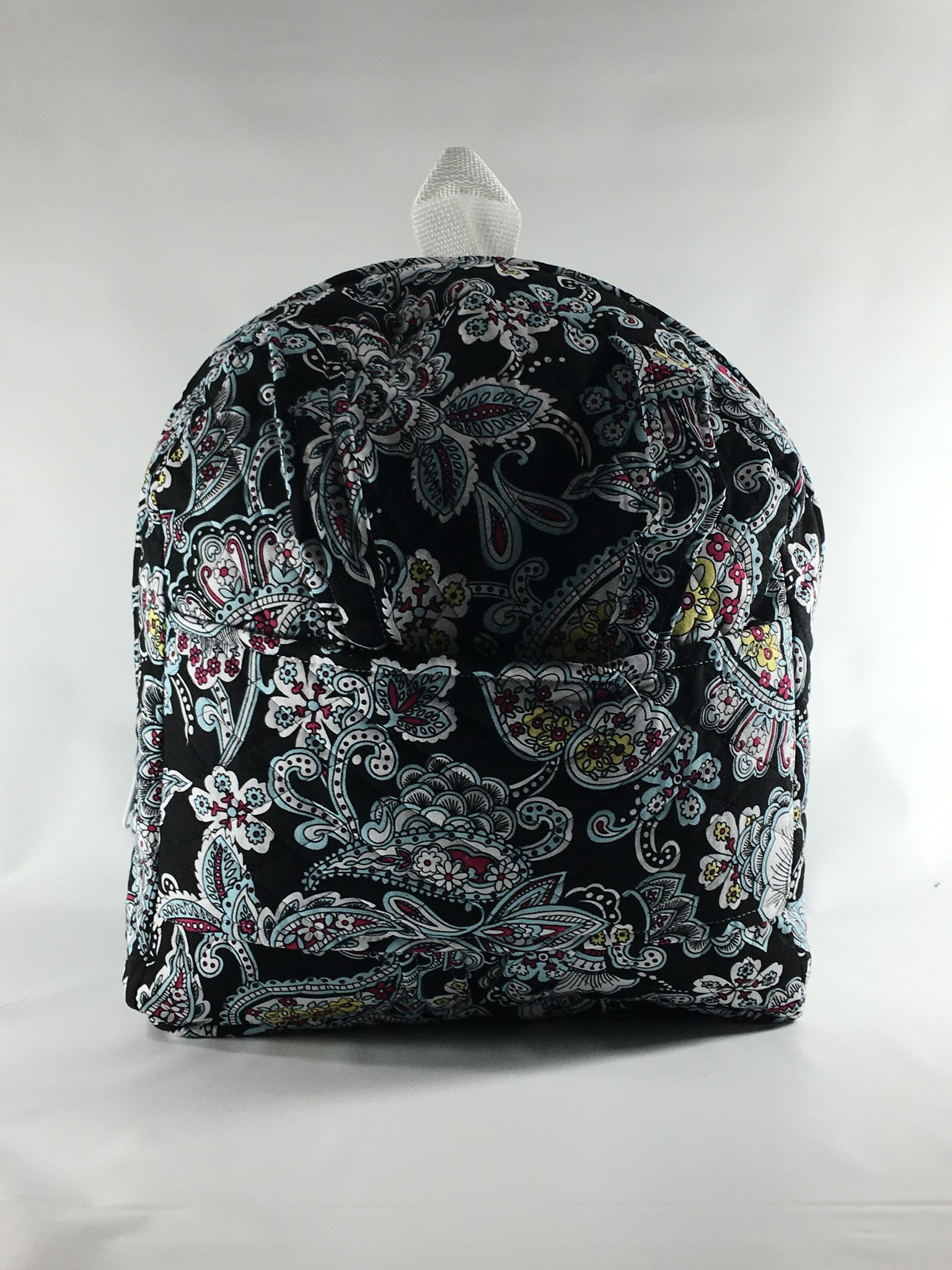 Tag Along Backpack with Doll Carrier in Multi Color Paisley Print - Buttons and Bows  - 1