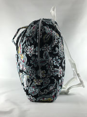 Tag Along Backpack with Doll Carrier in Multi Color Paisley Print - Buttons and Bows  - 3