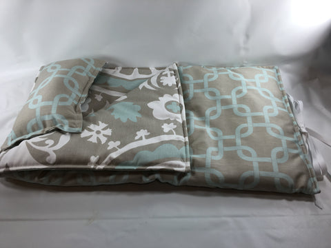 "18"" Doll Sleeping Bag - Gray and Blue Print"