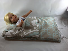 "Sleeping Bags for 18"" and 15"" dolls - Buttons and Bows  - 2"