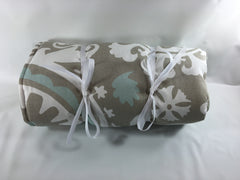 "18"" Doll Sleeping Bag- Gray and Blue Print"