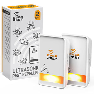 Ultrasonic Pest Repeller | With Backlight | 2 Pack