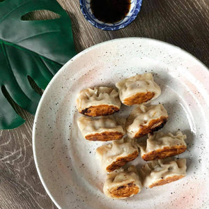 Chicken and Cabbage Dumplings, Pan Fried