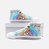 Greek Goddess Athena Unisex High Top Canvas Shoes - SHOPTLPA.COM