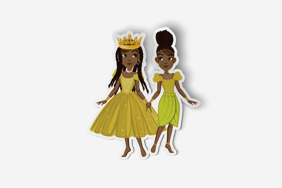 The Twins: Minta and Aria Sticker