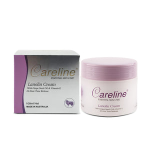 Careline Lanolin Cream with Grape Seed Oil & Vitamin E