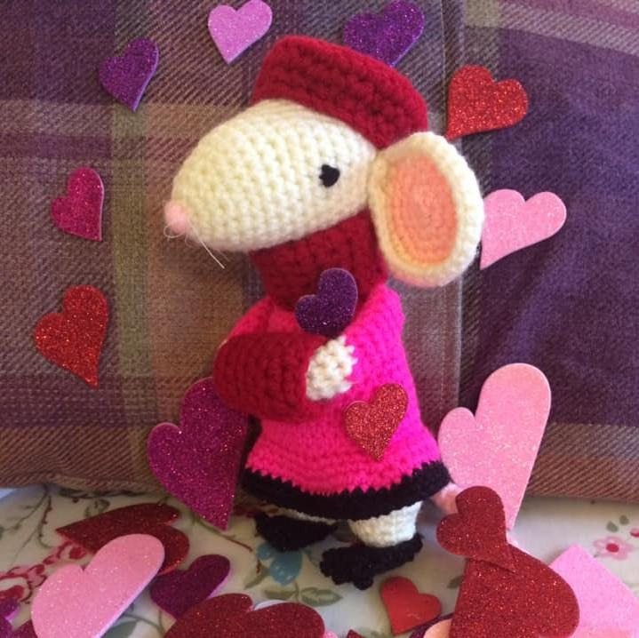 Rose, The February Valentine Mouse (includes UK shipping!)
