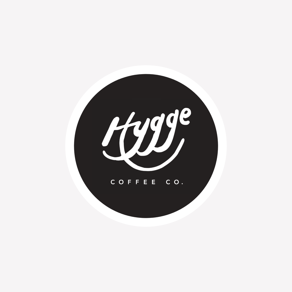 "Hygge Coffee Co. 2"" Round Sticker - Hygge Coffee Company // Direct Trade Wholesale and Retail Coffee Roaster in Missoula, Montana"