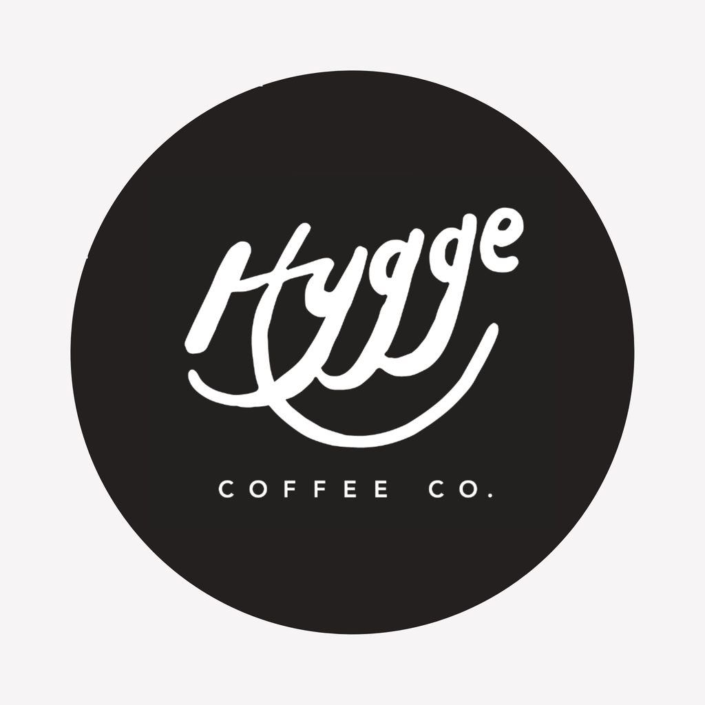 "Hygge Coffee Co. 4"" Round Sticker - Hygge Coffee Company // Direct Trade Wholesale and Retail Coffee Roaster in Missoula, Montana"