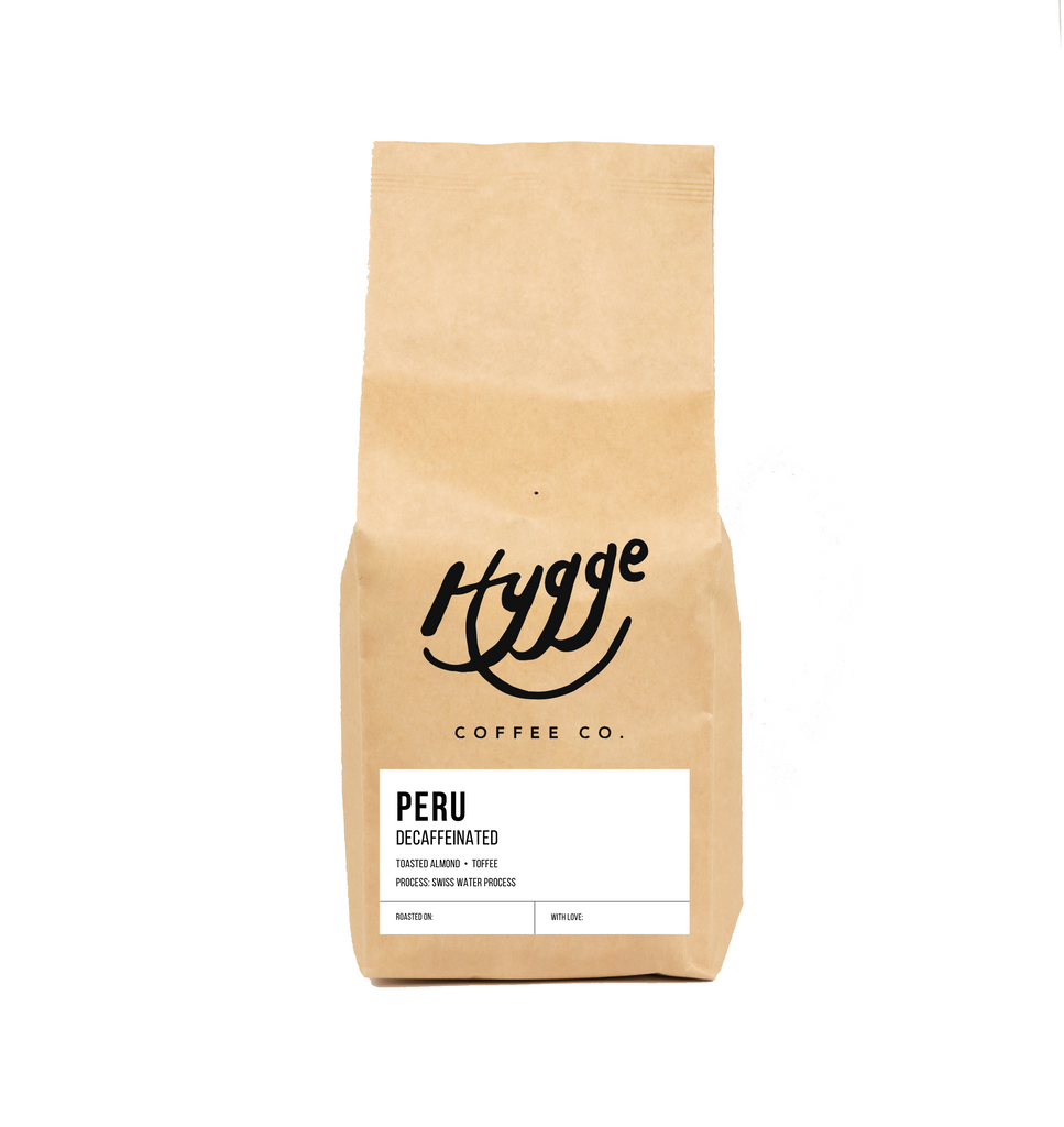 Decaffeinated Peru Medium Roast Coffee - Hygge Coffee Company // Direct Trade Wholesale and Retail Coffee Roaster in Missoula, Montana