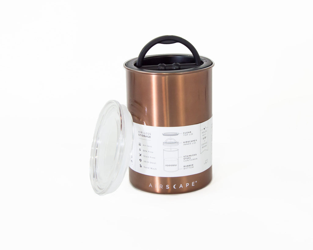 Planetary Design Airscape® Stainless Canister (medium) - Hygge Coffee Company // Direct Trade Wholesale and Retail Coffee Roaster in Missoula, Montana
