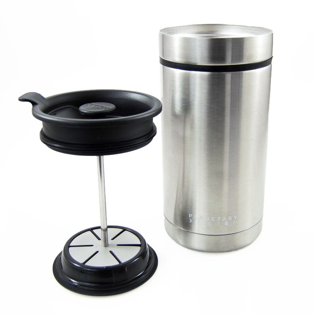 Steel Toe Travel Press with Bru-Stop™ (20 fl.oz.) - Hygge Coffee Company // Direct Trade Wholesale and Retail Coffee Roaster in Missoula, Montana