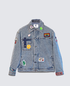Wonderwall Canva denim jacket light blue men
