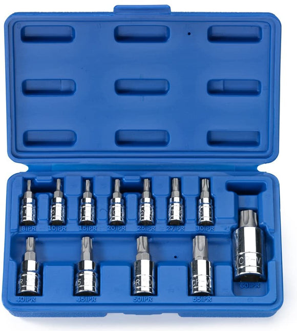5 Point Tamperproof Torx Plus Bit Socket Set 12-Piece