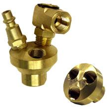 Air Manifold Brass 3 Way