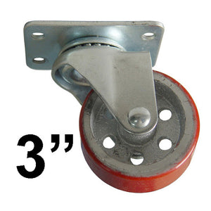 "Industrial Fixed Swivel 3"" HD RED"