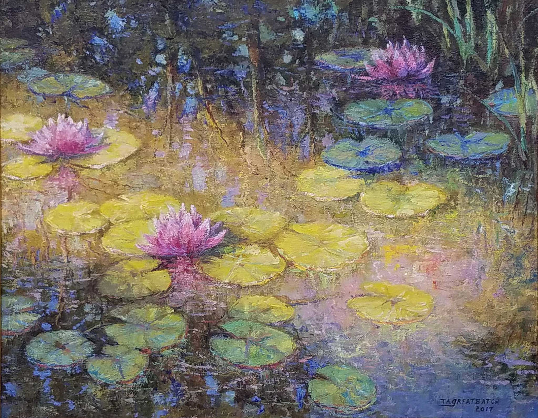 Painting: At The Pond's Edge Artist: Tim Greatbatch Medium: Acrylic on Canvas Size: 16