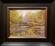 "Load image into Gallery viewer, Painting: Bachner Nature Preserve Artist: Jeffrey Klinker Medium: Oil  Size: 9"" x 12"" Framed: 18 x 21"""