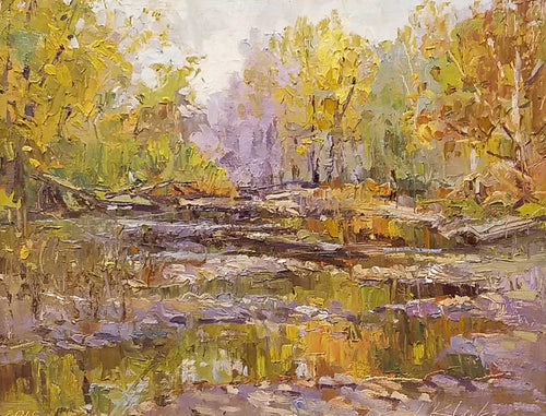 Painting: Bachner Nature Preserve Artist: Jeffrey Klinker Medium: Oil  Size: 9