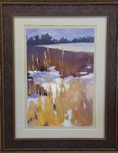 "Load image into Gallery viewer, Painting: Cattails Artist: Sally Hughes Medium: Gouache Size: 18"" x 12"", Framed"