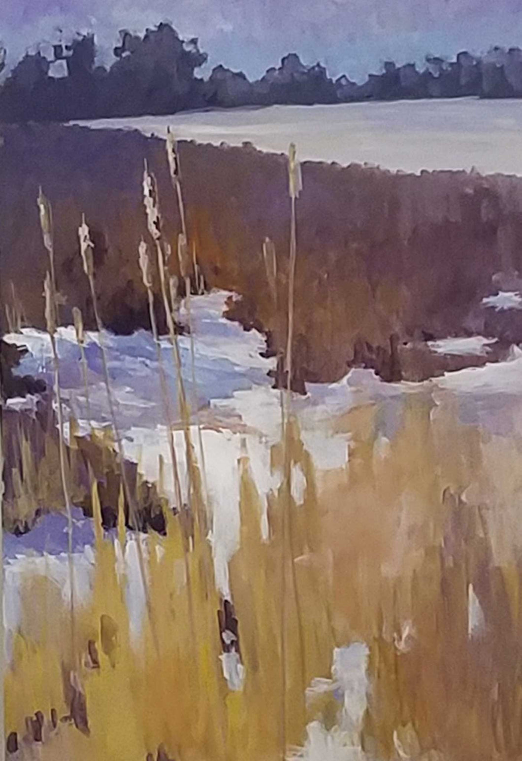 Painting: Cattails Artist: Sally Hughes Medium: Gouache Size: 18
