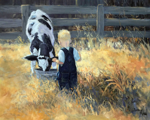 Painting: Chore Time Artist: Susan Ring Medium: Oil Size: 24