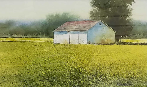 Painting: Forgotten Farm Artist: Allen Hutton Medium: Watercolor Size: 6