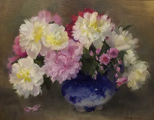 Painting: Fragrant Beauties Artist: Pam Newell Medium: Oil Size: Framed