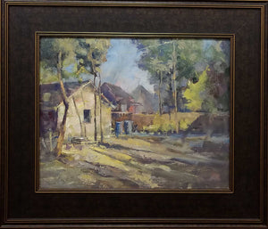 "Painting: From Vinnings Studio Artist: David M. Seward Medium: Oil Size: 16"" x 20"" Framed"