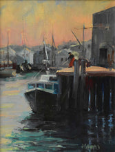 "Load image into Gallery viewer, Painting: Gloucester Catch Artist: Anthony Schillaci Medium: Oil on Canvas Size: 11"" x 14"" Framed"