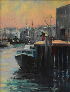 "Painting: Gloucester Catch Artist: Anthony Schillaci Medium: Oil on Canvas Size: 11"" x 14"" Framed"