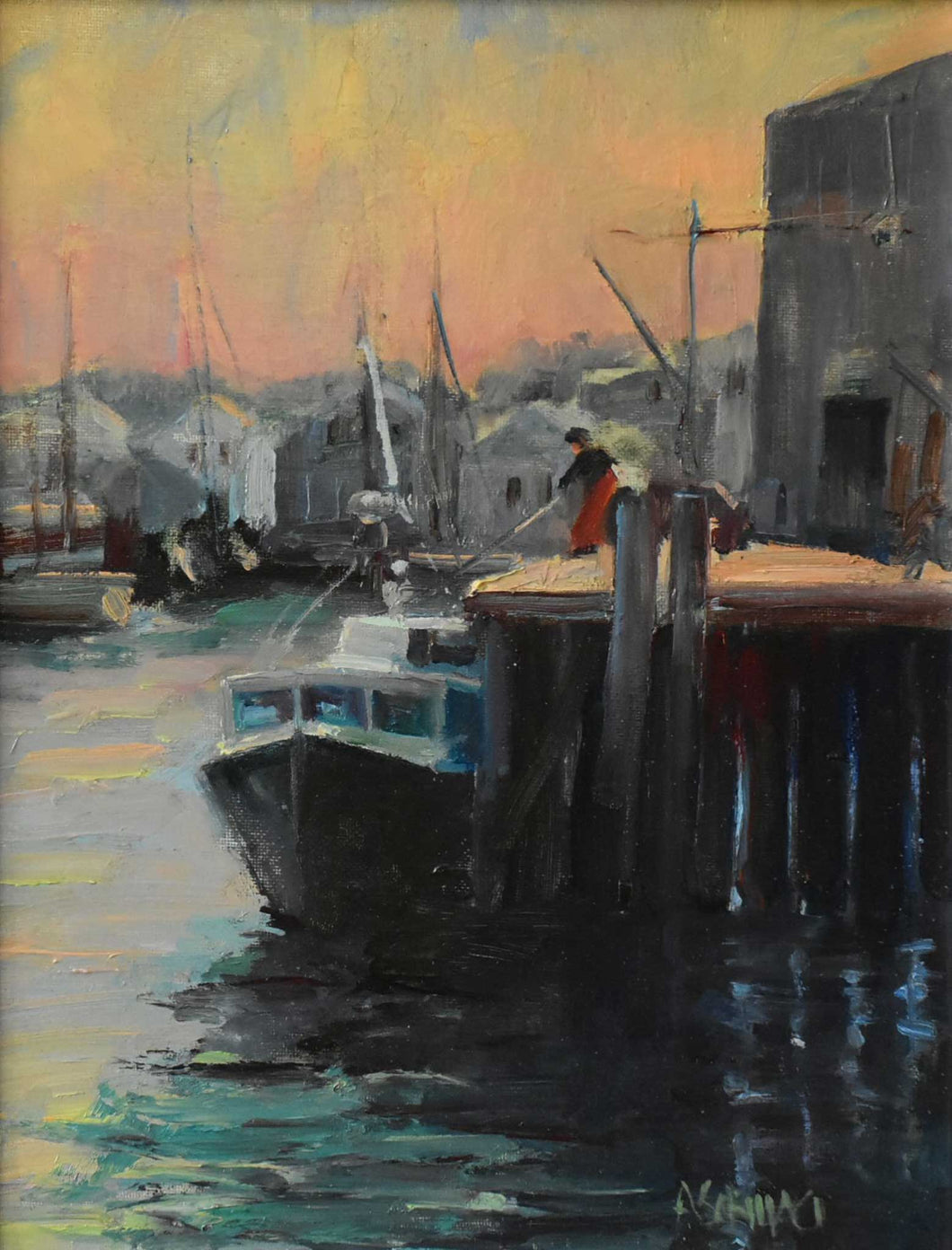 Painting: Gloucester Catch Artist: Anthony Schillaci Medium: Oil on Canvas Size: 11