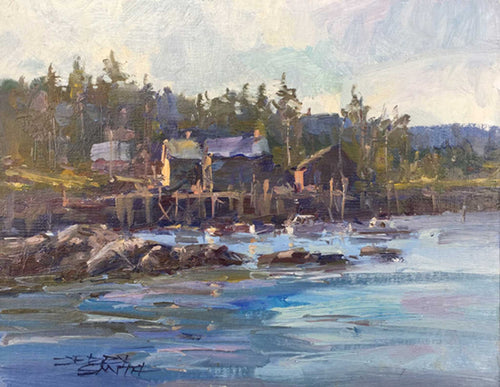 Painting: Harbor Glory Artist: Jerry Smith Medium: Oil  Size: 8