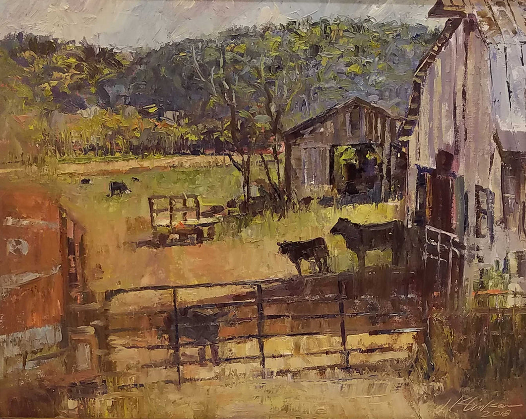 Lazy K Ranch Oil Painting by Jeffrey Klinker