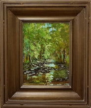 "Load image into Gallery viewer, Painting: Light of Haw Creek Artist: Rhonda Bontrager Medium: Oil  Size: 9"" x 12"" Framed"